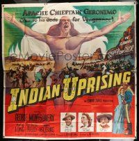 4y045 INDIAN UPRISING 6sh '51 Montgomery is leader of whites & Audrey Long is teacher of the Reds!
