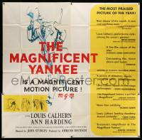 4y056 MAGNIFICENT YANKEE 6sh '51 Louis Calhern as Oliver Wendell Holmes, directed by John Sturges!