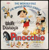 4y067 PINOCCHIO 6sh R62 Disney classic fantasy cartoon about a wooden boy who wants to be real!