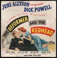 4y072 REFORMER & THE REDHEAD 6sh '50 June Allyson overpowers Dick Powell with 1000 laughs!