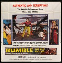 4y074 RUMBLE ON THE DOCKS 6sh '56 the juvenile delinquency story of James Darren & Robert Blake!
