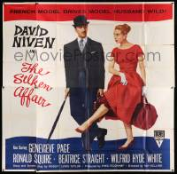 4y080 SILKEN AFFAIR 6sh '56 David Niven is a model husband, sexy Genevieve Page is a French model!
