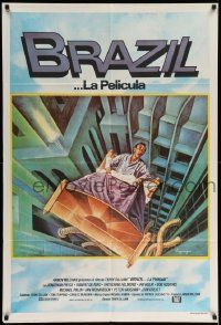 4y289 BRAZIL Argentinean '85 Terry Gilliam, sci-fi fantasy art of Jonathan Pryce by Lagarrigue!