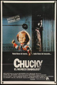 4y293 CHILD'S PLAY Argentinean '89 different image of the creepy killer doll Chucky!