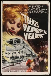 4y295 CLOSELY WATCHED TRAINS Argentinean '66 Ostre Sledovane Vlaky, classic coming-of-age comedy!
