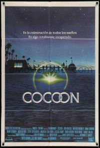 4y296 COCOON Argentinean '85 Ron Howard science fiction classic, great John Alvin artwork!