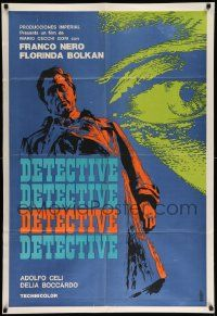 4y302 DETECTIVE BELLI Argentinean '69 Franco Nero knows all the heads & he uses all the bodies!