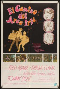 4y311 FINIAN'S RAINBOW Argentinean '68 Fred Astaire, Petula Clark, Francis Ford Coppola!