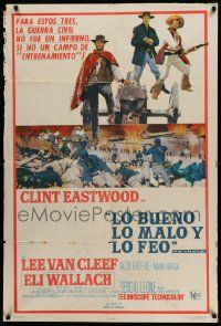 4y315 GOOD, THE BAD & THE UGLY Argentinean '68 Clint Eastwood, Lee Van Cleef, Sergio Leone classic!