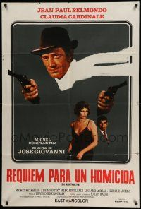 4y318 HIT MAN Argentinean '72 Jean-Paul Belmondo with two guns, sexy Claudia Cardinale!