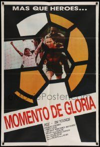 4y319 HOTSHOT Argentinean '86 cool image of soccer/football sports legend Pele & Jim Youngs!