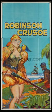 4y914 ROBINSON CRUSOE stage play English 3sh '30s sexy close up of female hero by Friday & ship!