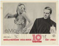5w502 10th VICTIM LC '65 c/u of Marcello Mastroianni & sexy barely-dressed masked Ursula Andress!
