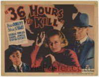 5w438 36 HOURS TO KILL TC '36 cool image of Gloria Stuart & Brian Donlevy with shadows behind!