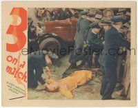 5w503 3 ON A MATCH LC '32 directed by Mervyn LeRoy, police hold back crowd from body of Ann Dvorak!