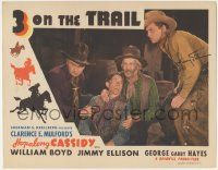 5w504 3 ON THE TRAIL signed LC R46 by Jimmy Ellison, who's with William Boyd as Hopalong Cassidy!