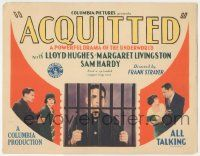 5w003 ACQUITTED TC '29 Lloyd Hughes behind prison bars in a powerful drama of the underworld!