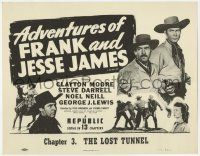 5w007 ADVENTURES OF FRANK & JESSE JAMES chapter 3 TC R56 Clayton Moore serial, The Lost Tunnel!