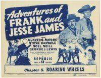 5w008 ADVENTURES OF FRANK & JESSE JAMES chapter 5 TC '48 Clayton Moore serial, Roaring Wheels!