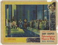 5w509 ADVENTURES OF MARCO POLO LC '37 Basil Rathbone & Gary Cooper w/ lots of women in throne room!