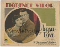 5w510 AFRAID TO LOVE LC '27 royal Clive Brook must give up Florence Vidor for inheritance, lost film