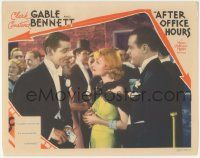 5w511 AFTER OFFICE HOURS LC '35 Clark Gable tells Constance Bennett he wouldn't work for her!