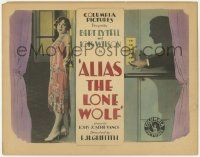 5w012 ALIAS THE LONE WOLF TC '27 jewel thief turned detective Bert Lytell in shadows by Lois Wilson