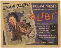5w001 ALIBI TC '29 Chester Morris uses his girlfriend to escape murder charges, newspaper art!