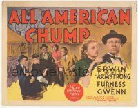5w013 ALL AMERICAN CHUMP TC '36 math genius Stuart Erwin is used by gangsters to cheat at bridge!