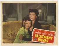 5w513 ALLOTMENT WIVES LC '45 c/u of Kay Francis holding her daughter Teala Loring on couchl