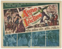 5w016 ANNE OF THE INDIES TC '51 history's fabulous pirate queen Jean Peters, Jacques Tourneur!