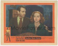 5w520 ANOTHER MAN'S POISON LC #8 '52 close up of Gary Merrill looking down at pretty Bette Davis!