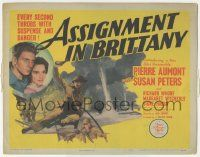 5w022 ASSIGNMENT IN BRITTANY TC '43 Jean-Pierre Aumont & pretty Susan Peters in World War II!