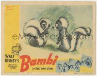 5w526 BAMBI LC '42 Walt Disney cartoon classic, great art with Flower & other skunk, ultra rare!