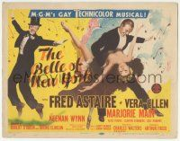 5w035 BELLE OF NEW YORK TC '52 great artwork of Fred Astaire & sexy Vera-Ellen dancing!