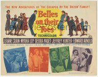 5w036 BELLES ON THEIR TOES TC '52 Jeanne Crain, Myrna Loy, Debra Paget, Jeffrey Hunter, Arnold!