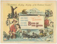 5w037 BEND OF THE RIVER TC '52 art of Jimmy Stewart & Julia Adams, directed by Anthony Mann!