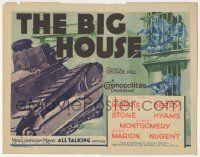 5w042 BIG HOUSE TC '30 one of the very first major 1930s gangster movies, cool prison escape art!