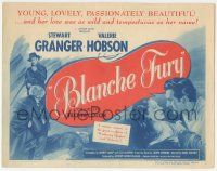 5w048 BLANCHE FURY TC '48 romantic art of Stewart Granger & Valerie Hobson, passionately beautiful!