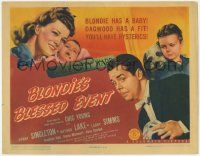 5w052 BLONDIE'S BLESSED EVENT TC '42 Penny Singleton has a baby, Arthur Lake has a fit!