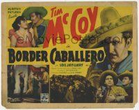 5w057 BORDER CABALLERO TC '36 great images of Tim McCoy as a Mexican cowboy!