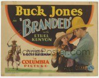 5w062 BRANDED TC '31 cowboy Buck Jones with pretty Ethel Kenyon & riding his horse!