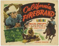 5w069 CALIFORNIA FIREBRAND TC '48 great images of Monte Hale with guns drawn & riding horse!