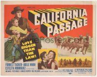 5w070 CALIFORNIA PASSAGE TC '50 cowboy Forrest Tucker & sexy Adele Mara could lick the West!