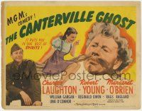 5w075 CANTERVILLE GHOST TC '44 Margaret O'Brien w/ spirit Charles Laughton & soldier Robert Young!