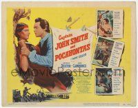 5w077 CAPTAIN JOHN SMITH & POCAHONTAS TC '53 trible death battle, beseiged fort overrun, sacrifice!