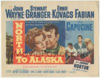 5w333 NORTH TO ALASKA TC '60 John Wayne & sexy Capucine in a fun-filled adventure in the Yukon!