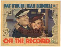 5w812 OFF THE RECORD LC '39 wonderful close up of newspaper reporters Pat O'Brien & Joan Blondell!