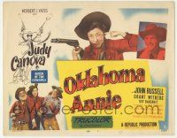 5w334 OKLAHOMA ANNIE TC '51 cool images of queen cowgirl Judy Canova + Hirschfeld art!