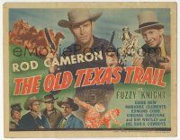 5w335 OLD TEXAS TRAIL TC '44 Rod Cameron with two guns, Fuzzy Knight with ace of hearts & gun!